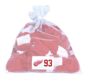 Detroit Red Wings White Laundry Bag - Johan Franzen