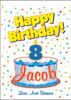 Personalized Happy Birthday Flag - House Size 30 x 40