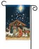 Holy Night BreezeArt Christmas Nativity Garden Flag