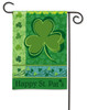 Happy St. Pat's Shamrock BreezeArt Holiday Garden Flag