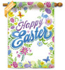 Happy Easter Decorative House Flag reads correctly on both sides