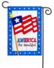 America the Beautiful Linen Garden Flag