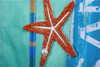 Oars Burlap Decorative Garden Flag with star fish