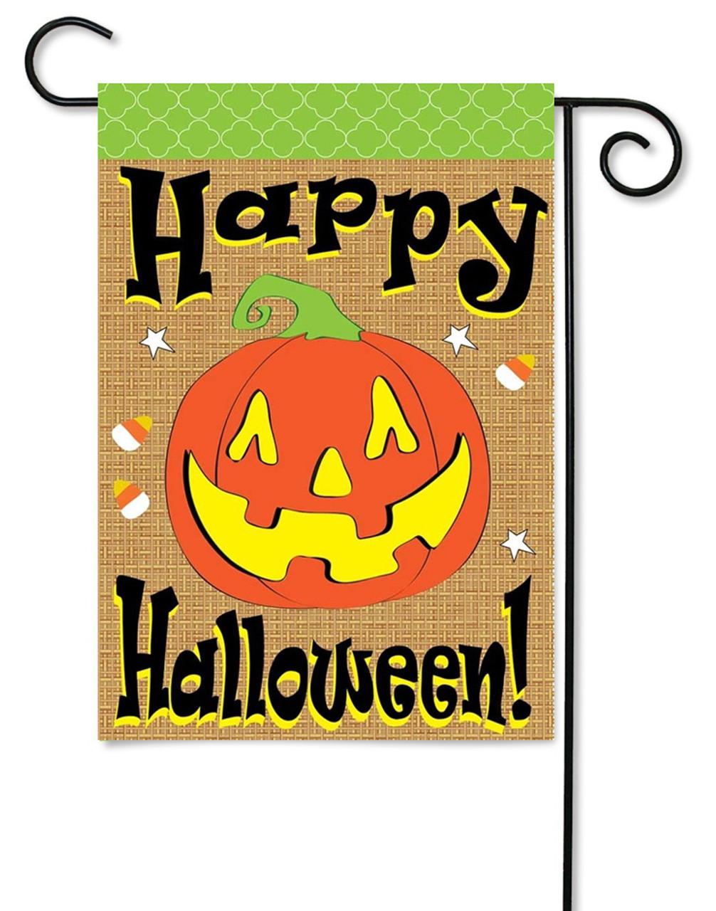 Perfect Halloween Burlap Garden Flag