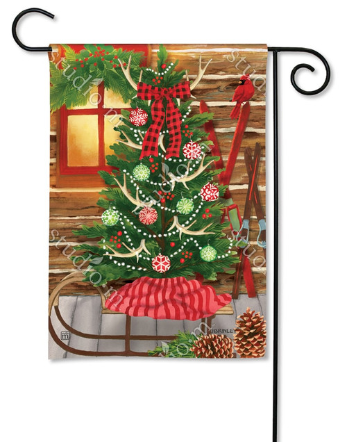 "Christmas at the Cabin Garden Flag - 12.5"" x 18"" - BreezeArt"
