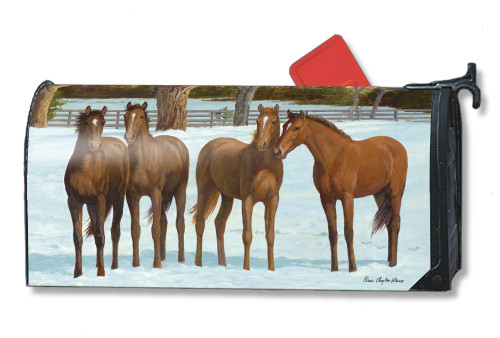 Winter Horse Magnetic Mailbox Cover