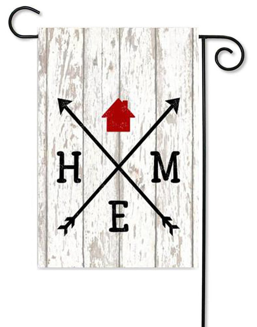 "Home Arrows Garden Flag - 12"" x 17.5"" - Second East (G7444)"