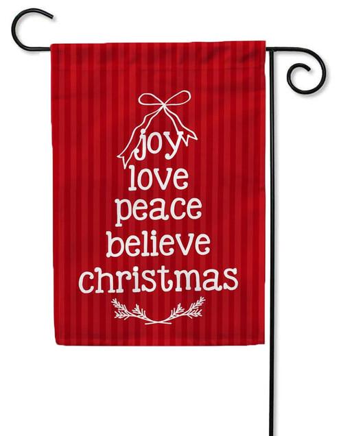 Joy Love Peace Christmas Garden Flag