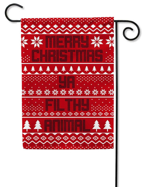 Christmas Sweater Filthy Animal Christmas Garden Flag