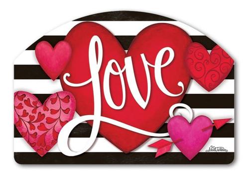 heart with stripe yard design 14 - Valentine Signs