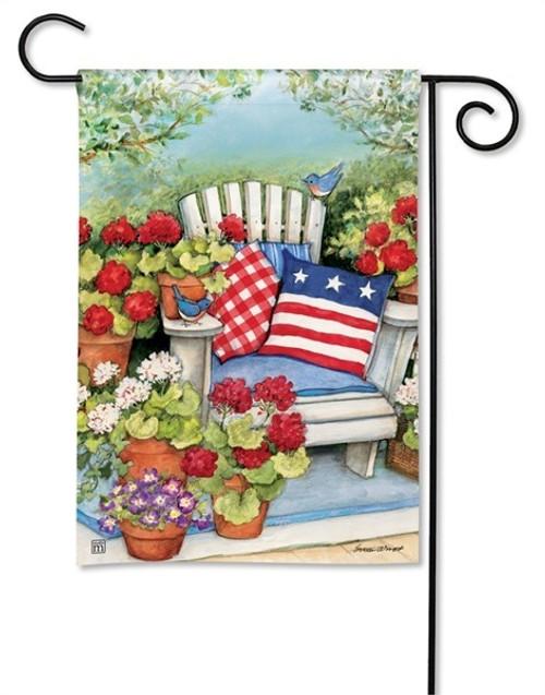 patriotic garden flag breezeart