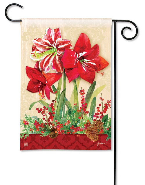 BreezeArt Amaryllis Christmas Garden Flag