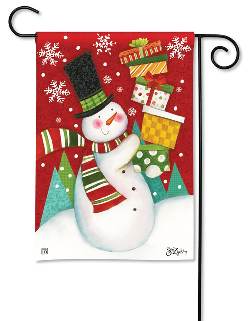 BreezeArt Happy Snowman Outdoor Garden Flag