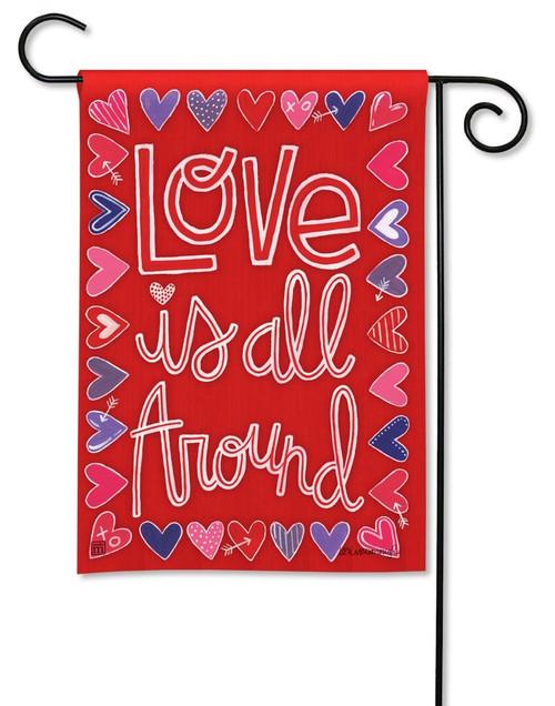 Mix It Up Decorative Valentine Garden Flag