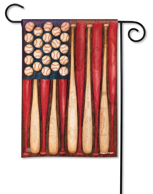 """Baseball Season Summer Garden Flag - 12.5"""" x 18"""" - BreezeArt"""