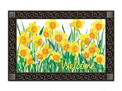 "Daffodils in Bloom MatMates Doormat - 18"" x 30"""