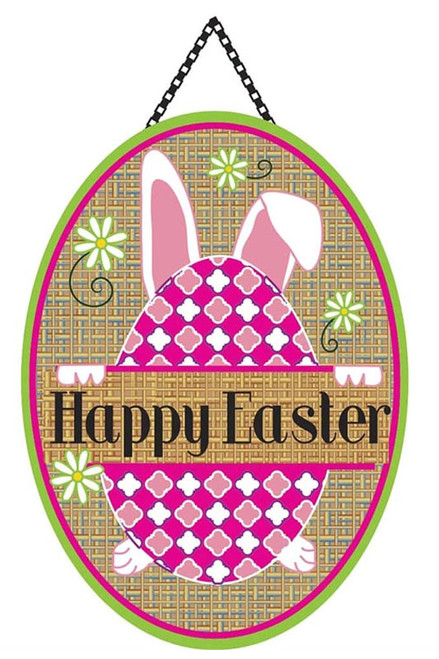 Happy Easter Burlap Door Decor by Magnolia Gardens  sc 1 st  Flags on a Stick & Easter Door Decor Hangers u0026 Accents for your Home pezcame.com