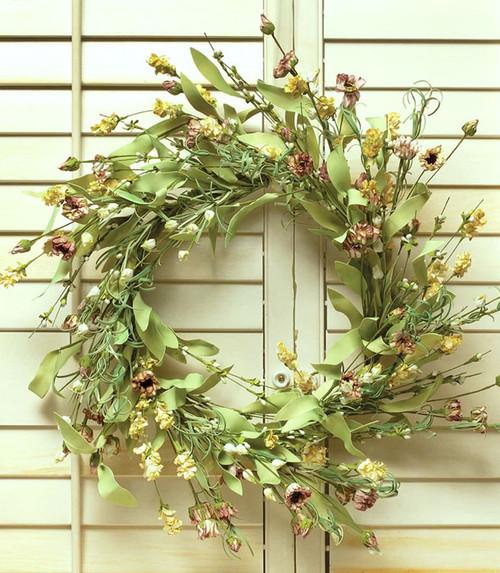 "Chalet Floral 20"" Faux Spring Wreath"