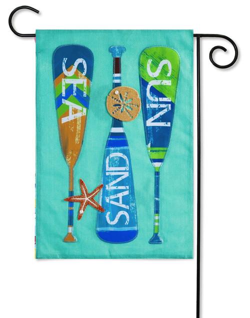 Oars Burlap Decorative Garden Flag