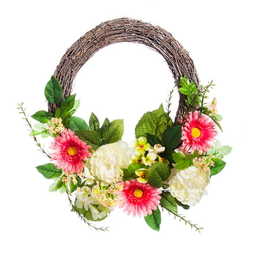Spring Mum Woven Wreath