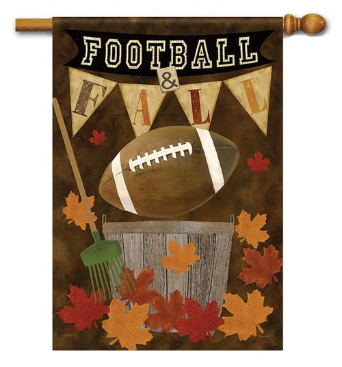 Football Fall House Flag