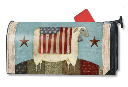 Great Freedom Sheep Magnetic Mailbox Cover