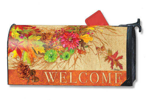 Autumn Wreath Magnetic Mailbox Cover
