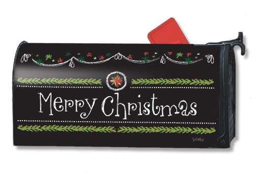 Blackboard Christmas Magnetic Mailbox Cover