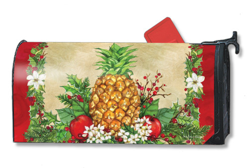 Holiday Pineapple Magnetic Mailbox Cover