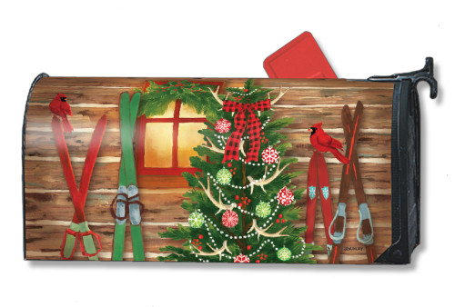 Christmas at the Cabin Magnetic Mailbox Cover