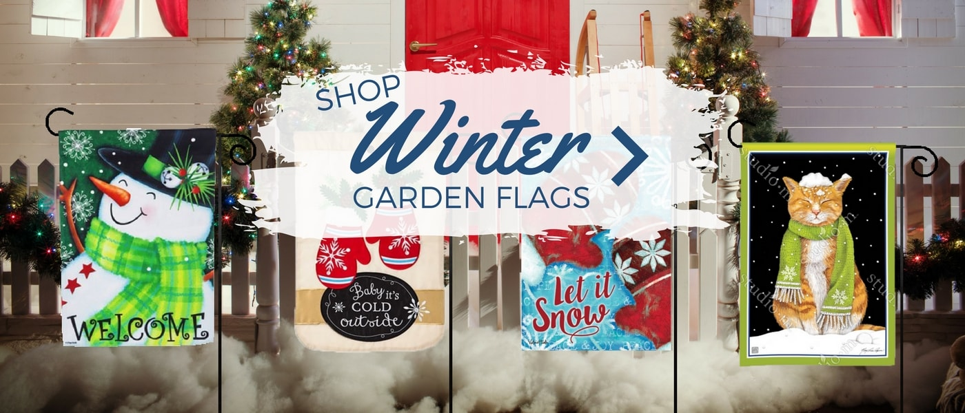 Winter and Christmas Garden Flags