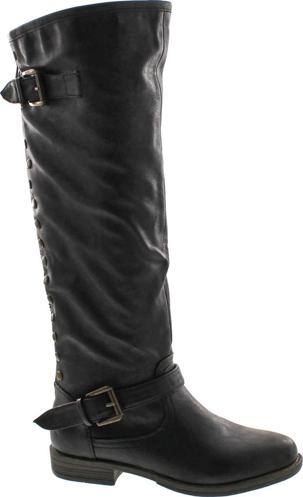 Bamboo Womens Montage 83 Knee High Contrast Zipper Metal
