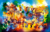Colorful Kotel Giclee by Ora Nissim