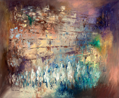 Jerusalem and the Reflections Giclee by Ora Nissim