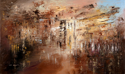 Jerusalem Abstract Giclee by Ora Nissim