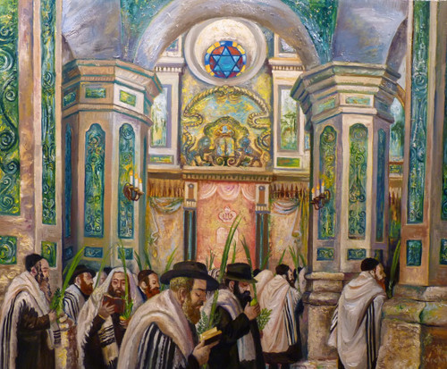 Synagogue in Uman - Original, by Alexander Kanchik