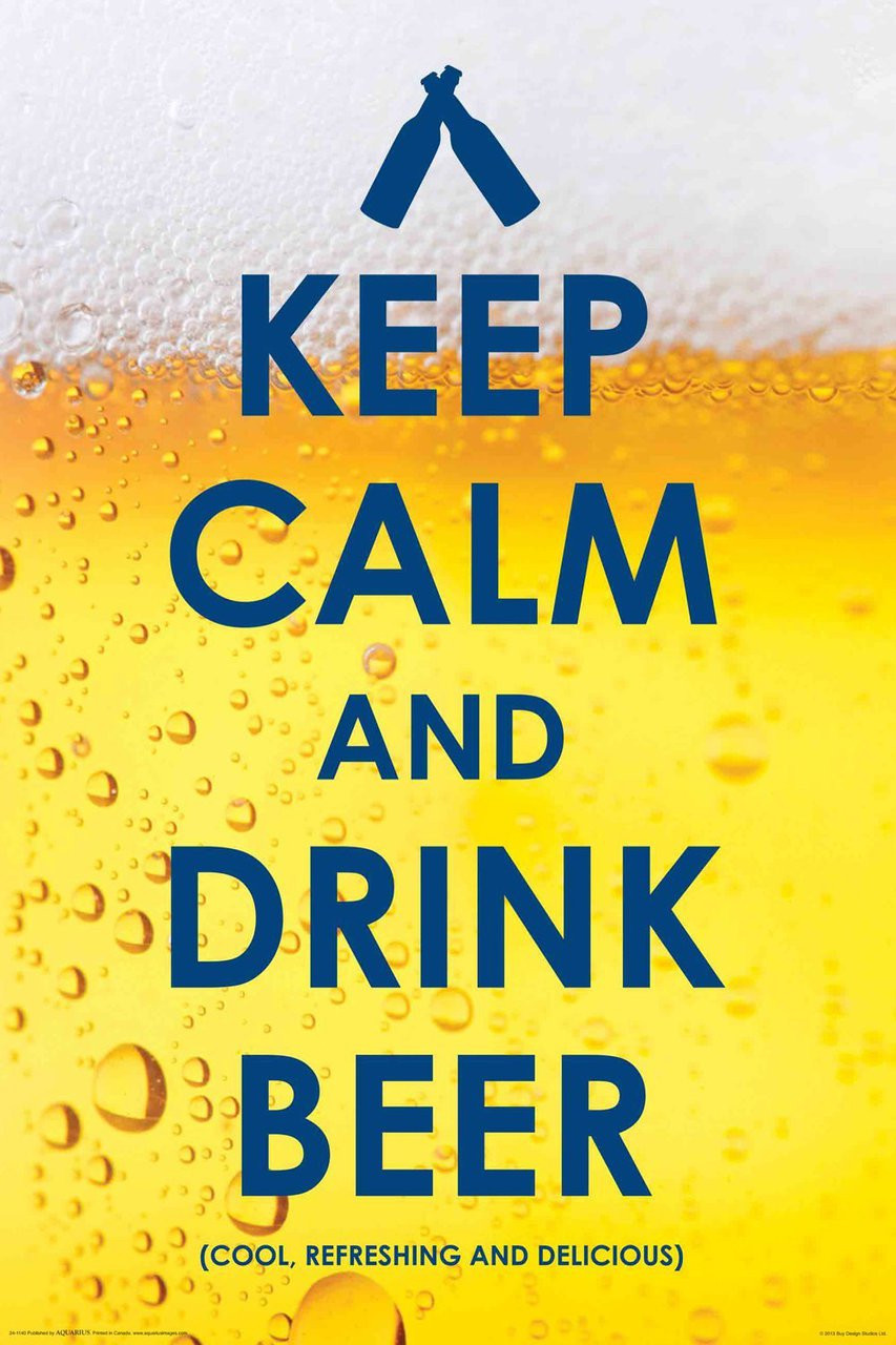 Poster Drinking Keep Calm Drink Beer Wall Art 241140 - Hobby Hunters