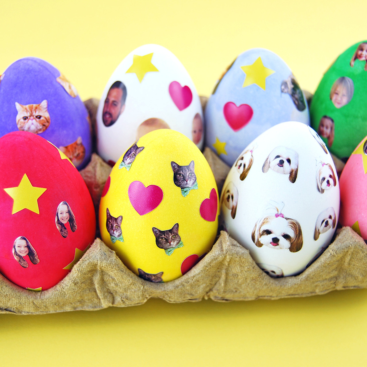 Sticker Love: DIY Stickered Easter Eggs