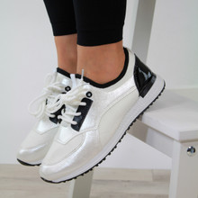 Casual Lace Up Trainers White