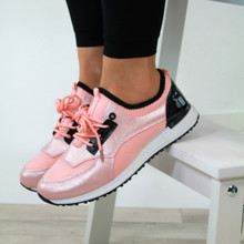 Casual Lace Up Trainers Pink