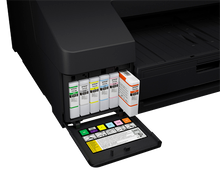 Epson SureColor P5000 UltraChrome HDX 200ml Cartridges with Orange and Green inks.