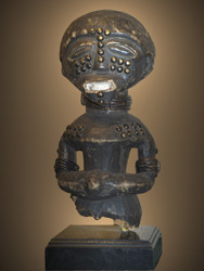 Important  Commemorative Figure of a King, Luba Peoples, D.R. Congo, Circa: 19th Century
