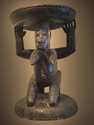 A Fine Caryatid/Stool, Dogon Peoples, Mali