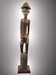 A Fine and Rare Warrior Figure, Senufo Peoples, Cote d'Ivoire