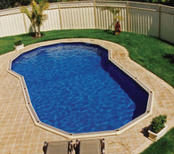 Keyhole Shape Pool Liner for Sterns 7.6m x 4.8m  Pool, Australian Made