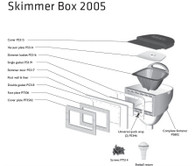 Zodiac 2005 Skimmer Box Cover (Lid, Mount & Grate)