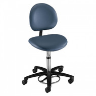 Brewer Foot-operated Surgeon Stool, with backrest