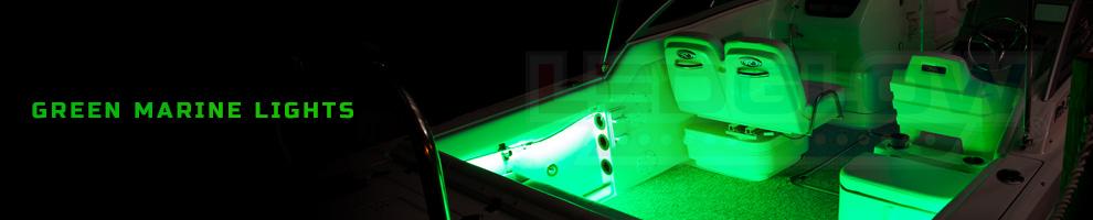 LED Green Marine Boat Lights