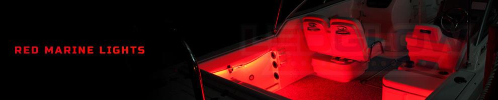 LED Red Marine Boat Lights