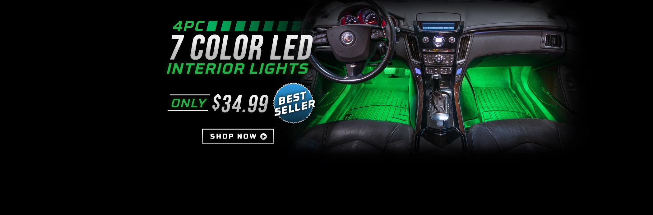 4pc 7 Color LED Interior Lights